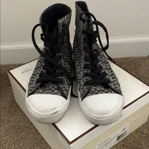 Women's Coach high tops sneakers